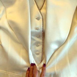 NWOT Solini Rhinestone Tuxedo Blazer